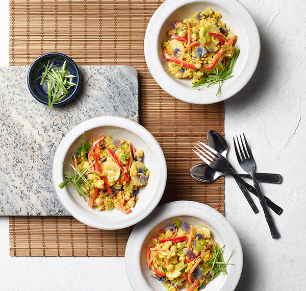 Coconut Curry Vegetable Rice Bowls
