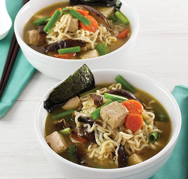 Tofu and Mushroom Ramen